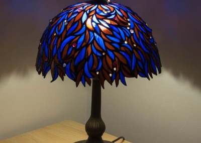 Blue Leaf Lampshade