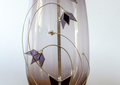 Purple Decorated Vase