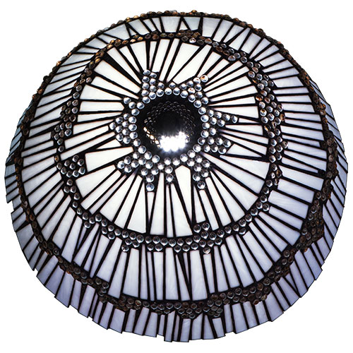Marbellous 'Tiffany' Style Stained Glass Lampshade top view