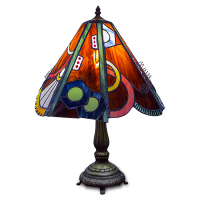 Steampunk 'Tiffany' Style Stained Glass Lampshade