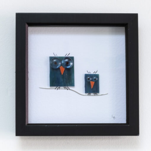 Twit-Twoo duo of turquoise owls
