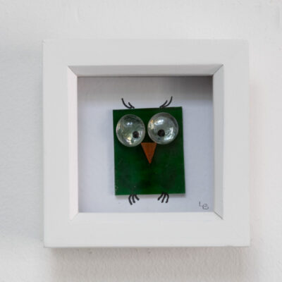 Twit-Twoo dark green owl
