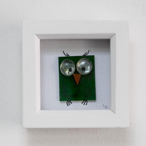Twit-Twoo dark green owl