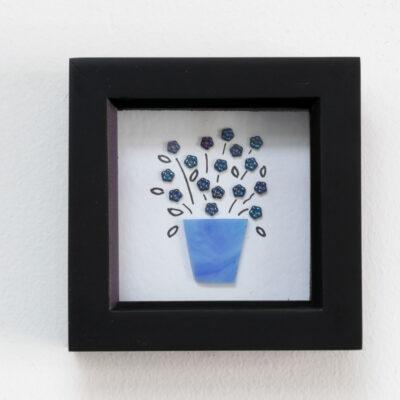 Mid blue flower vase