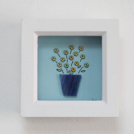 Dark blue flower vase