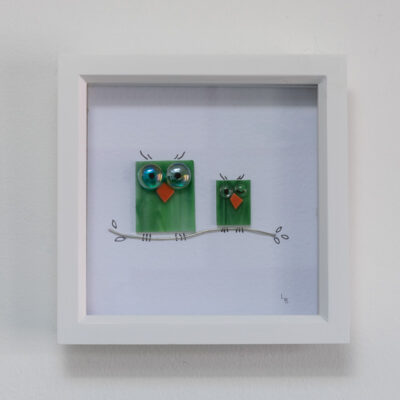 Twit-Twoo duo of green owls