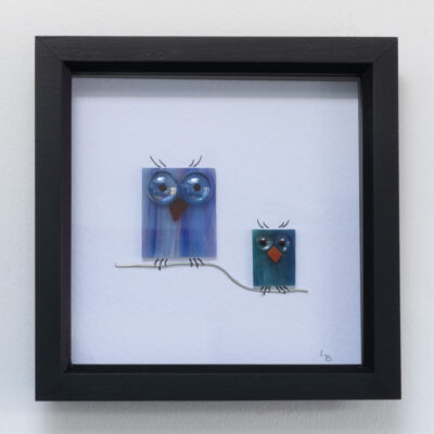 Twit-Twoo duo of lilac and turquoise owls