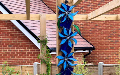 Floral garden sculpture perfect for pergola