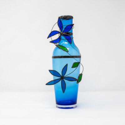 Rich blue floral vase