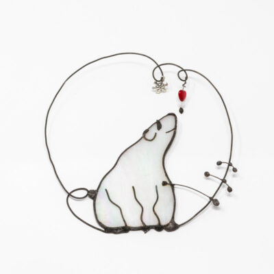 Polar bear wall hanger