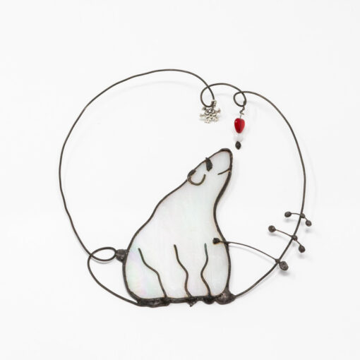Polar bear wall hanger
