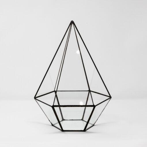 tall hexagonal terrarium no finial