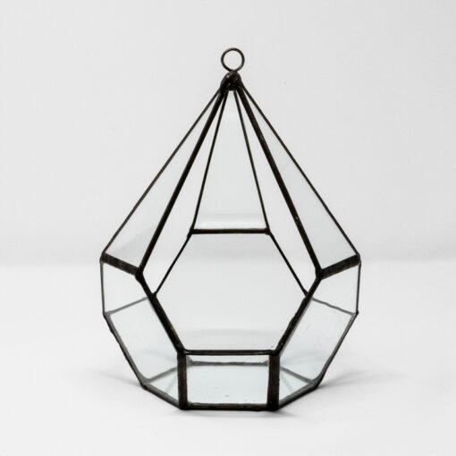 hexagon and square terrarium