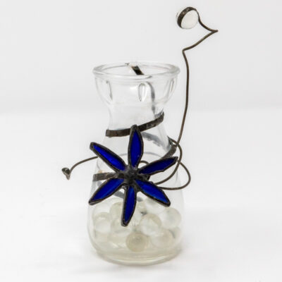 Little blue flower vase