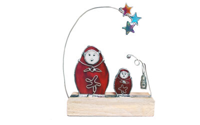Russian Matryoshka nesting doll glass sculpture