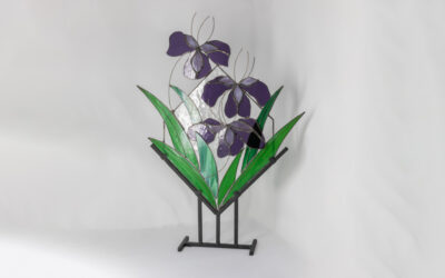 Unique floral art sculpture for the home