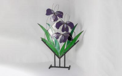 Unique floral art sculpture for the home