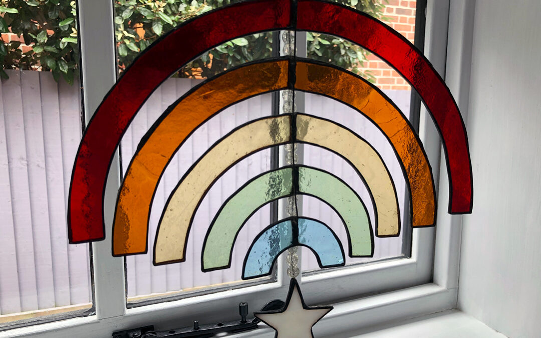 Rainbow stained glass for new TV series