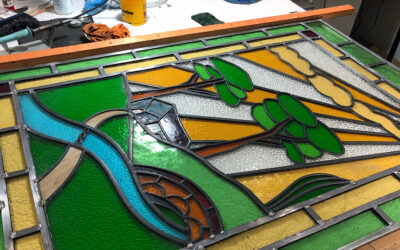 Yellow Brick Road stained glass window update