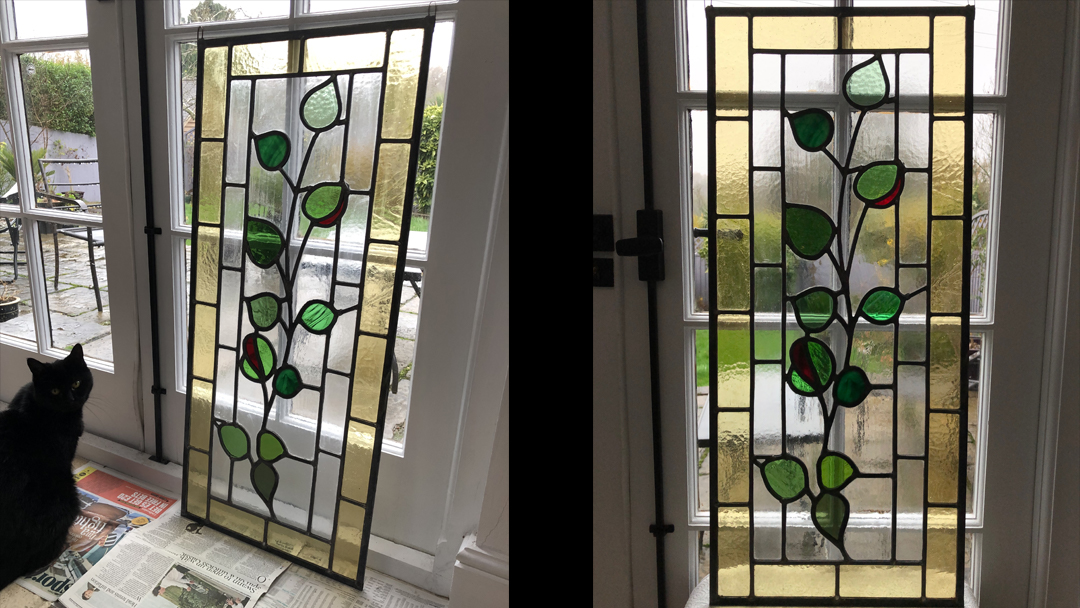 Two stained glass windows into one