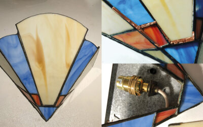 Art Deco wall light repair