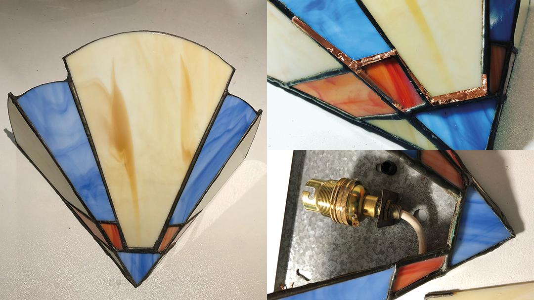 Art Deco wall light repair