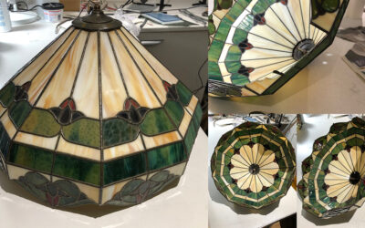 Tiffany lamp repaired to hand on to the next generation