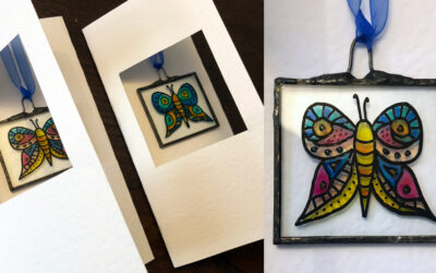 Handmade cards with stained glass light catcher gifts