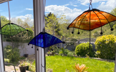 Umbrella and Cat sun catchers make unique gifts