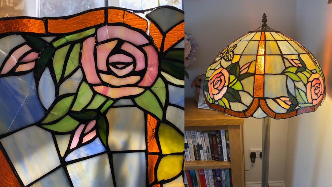 Rose Tiffany lamp repair